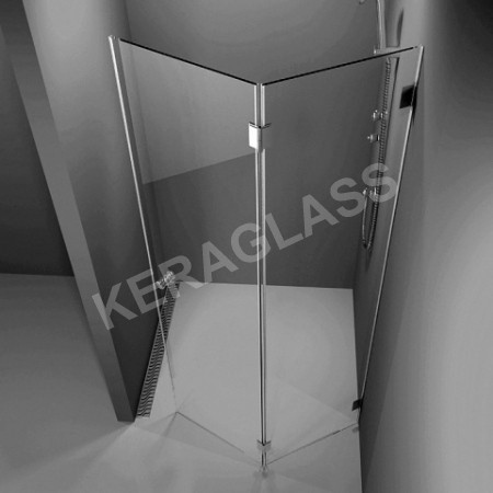 Folding Shower screen - Paris 2 /harmonica type/