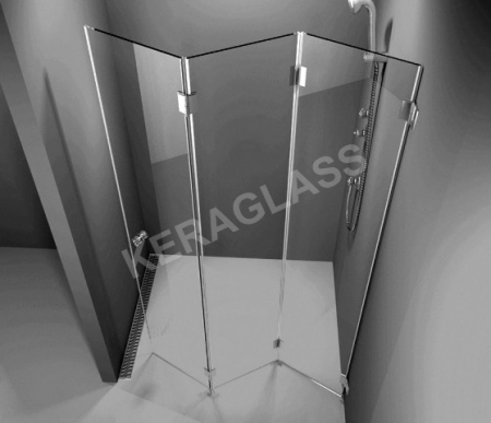 Folding shower screen Paris 3 /Harmonica type/