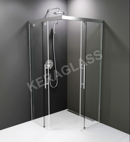 Shower enclosure - London Hrome + /NEW/